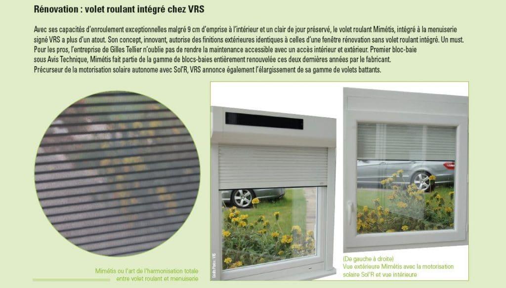 VRS Publicité dans Verre & Menuiserie magazine